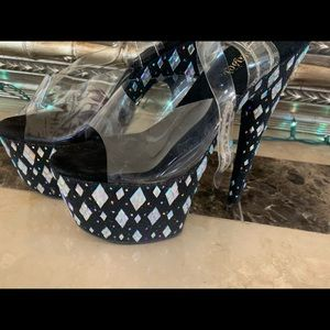 Pleaser Bejeweled Heels
